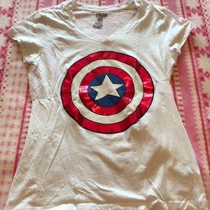 Captain America tshirt junior xl